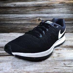 Nike Zoom Pegasus 33 Black Running Shoe Men's 10.5